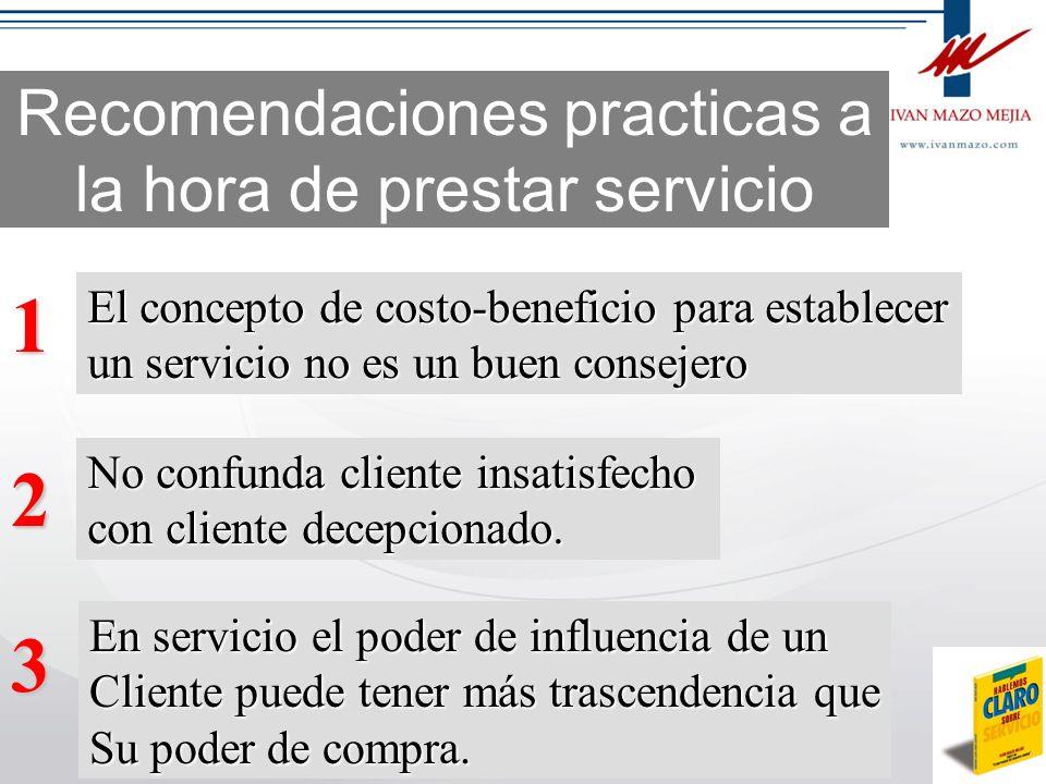 Recomendaciones practicas a la hora de prestar servicio