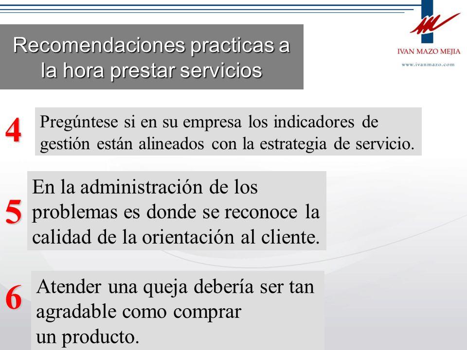 Recomendaciones practicas a la hora prestar servicios