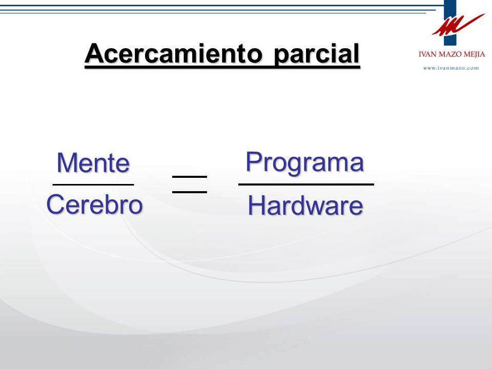 Acercamiento parcial Mente Programa Cerebro Hardware