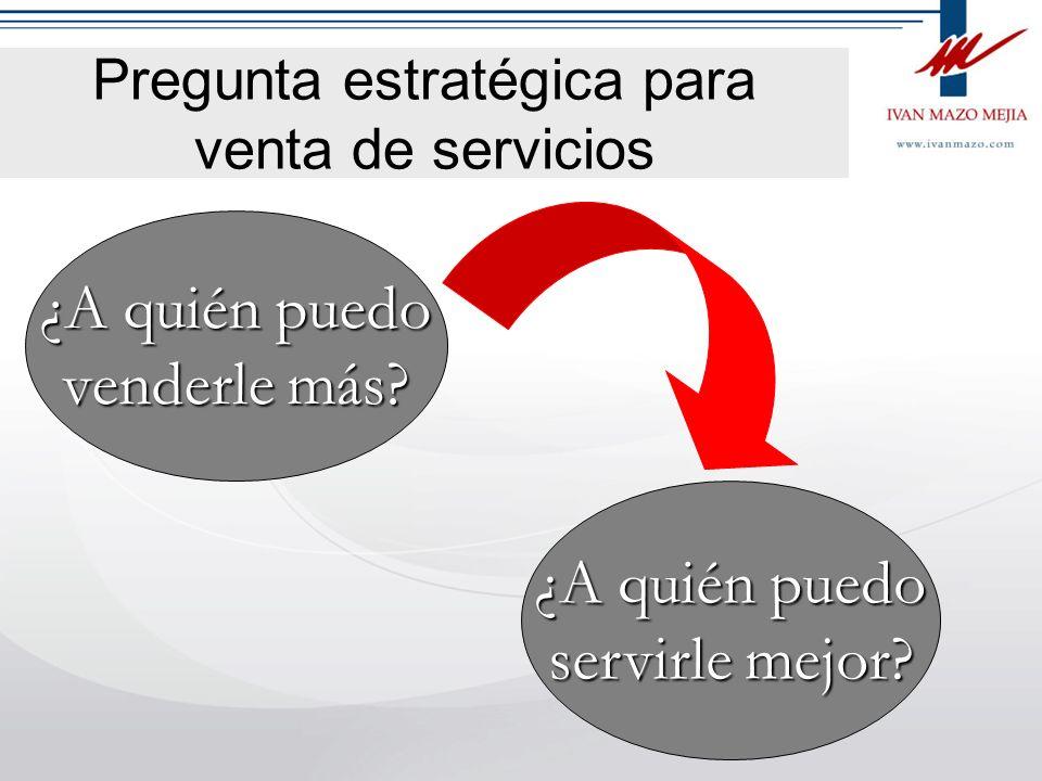 Pregunta estratégica para venta de servicios