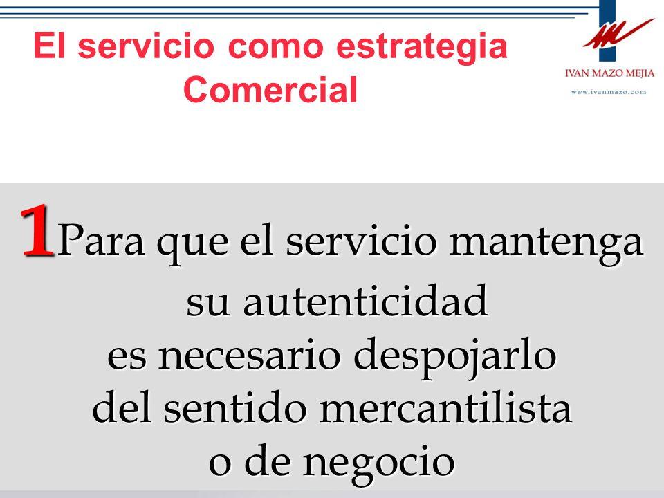 El servicio como estrategia Comercial