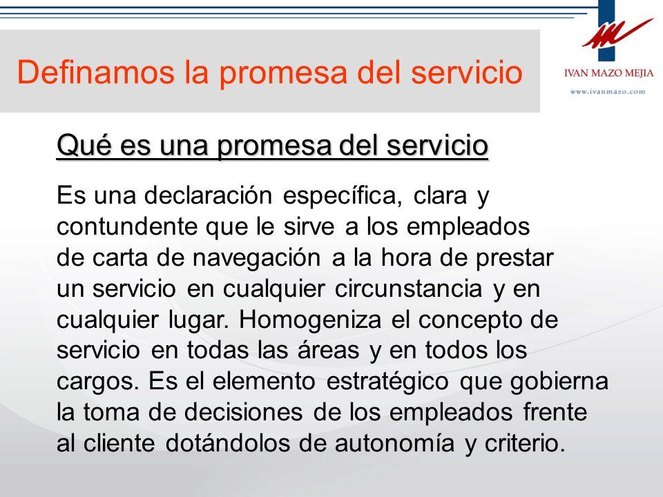 Definamos la promesa del servicio