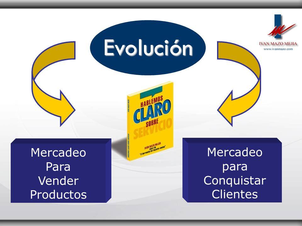Evolución Mercadeo Mercadeo Para Vender para Conquistar Productos