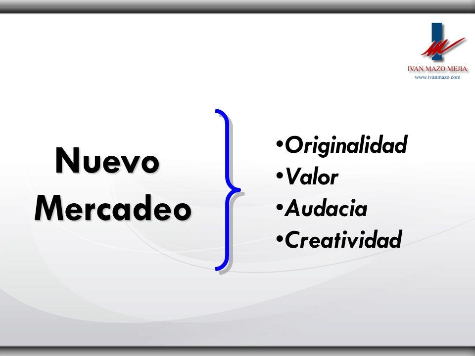 Originalidad Valor Audacia Creatividad Nuevo Mercadeo