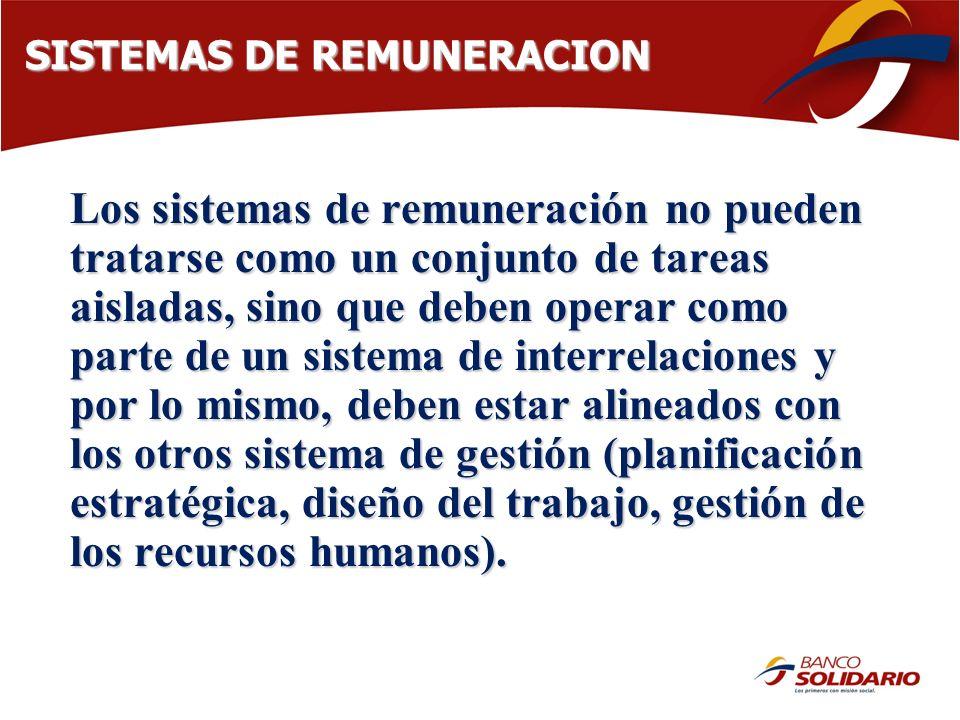 SISTEMAS DE REMUNERACION