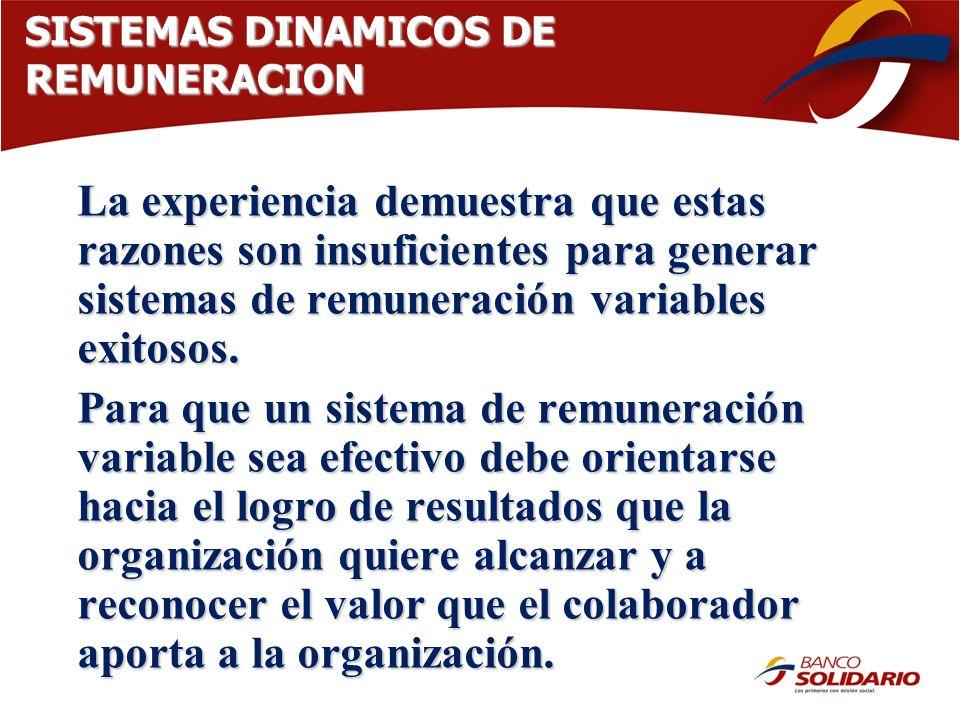 SISTEMAS DINAMICOS DE REMUNERACION