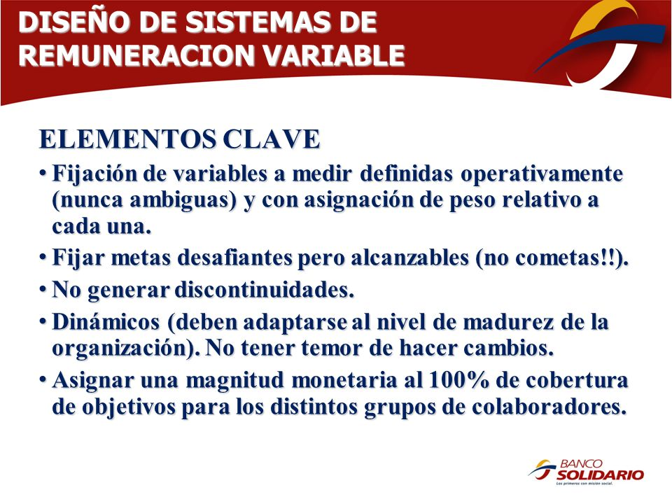 DISEÑO DE SISTEMAS DE REMUNERACION VARIABLE