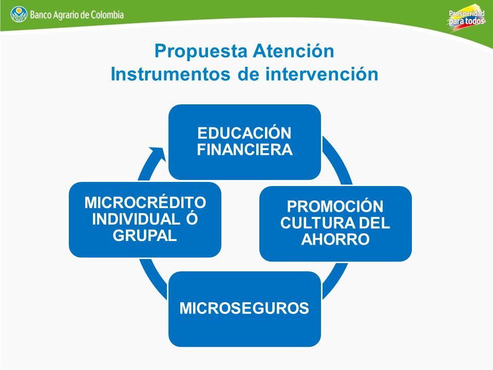 Instrumentos de intervención