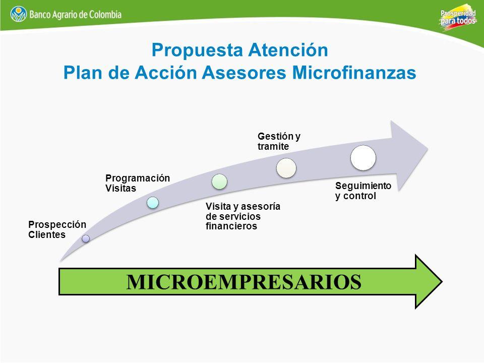 Plan de Acción Asesores Microfinanzas