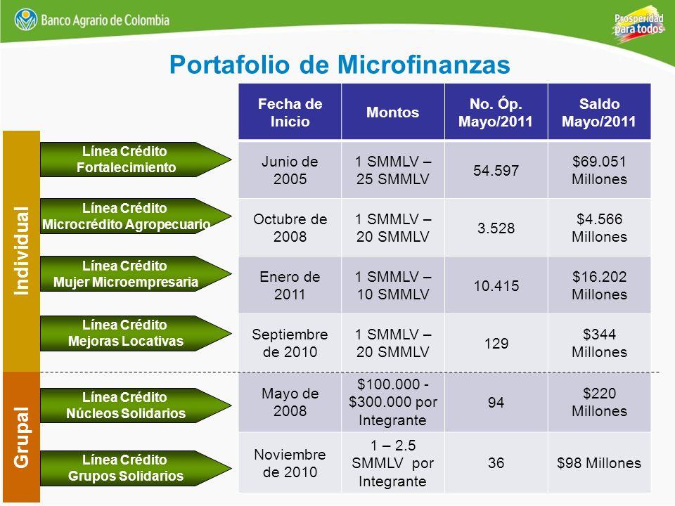 Portafolio de Microfinanzas