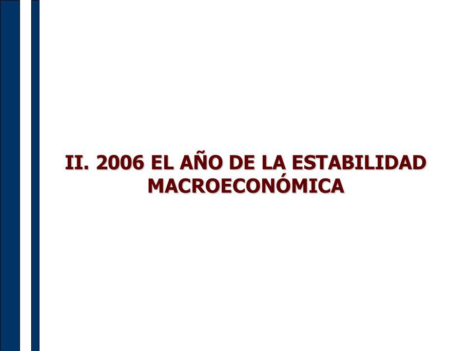 II. 2006 EL AÑO DE LA ESTABILIDAD MACROECONÓMICA