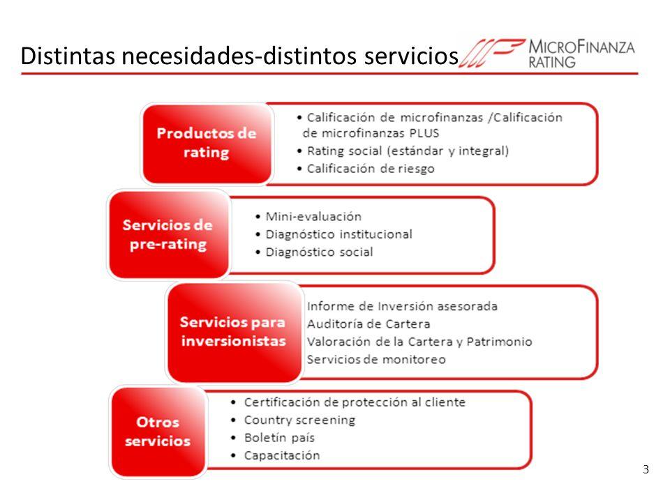 Distintas necesidades-distintos servicios