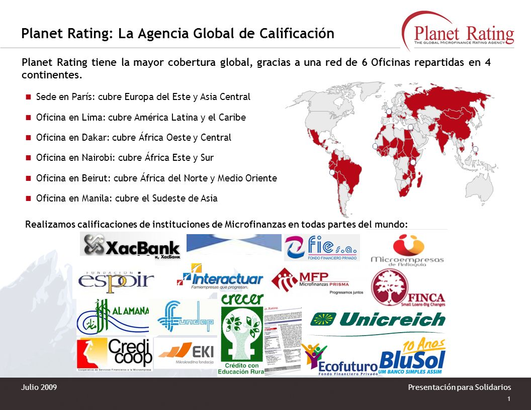 Planet Rating: La Agencia Global de Calificación
