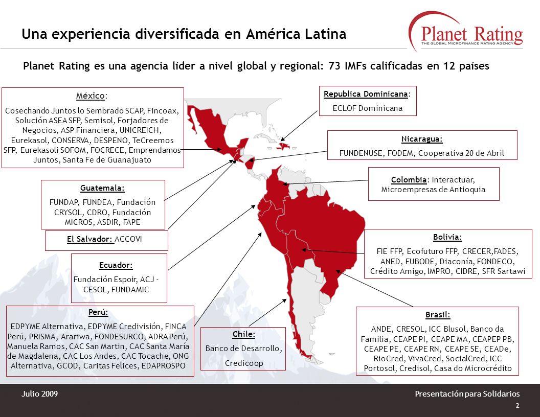 Una experiencia diversificada en América Latina
