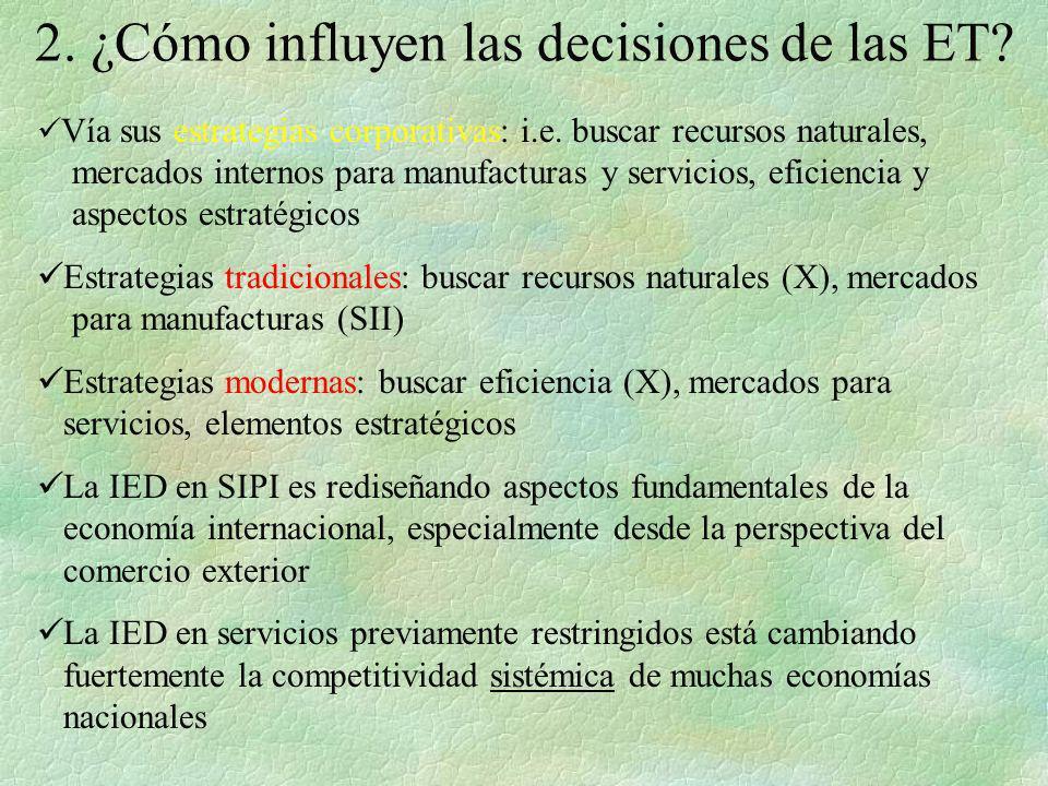 2. ¿Cómo influyen las decisiones de las ET