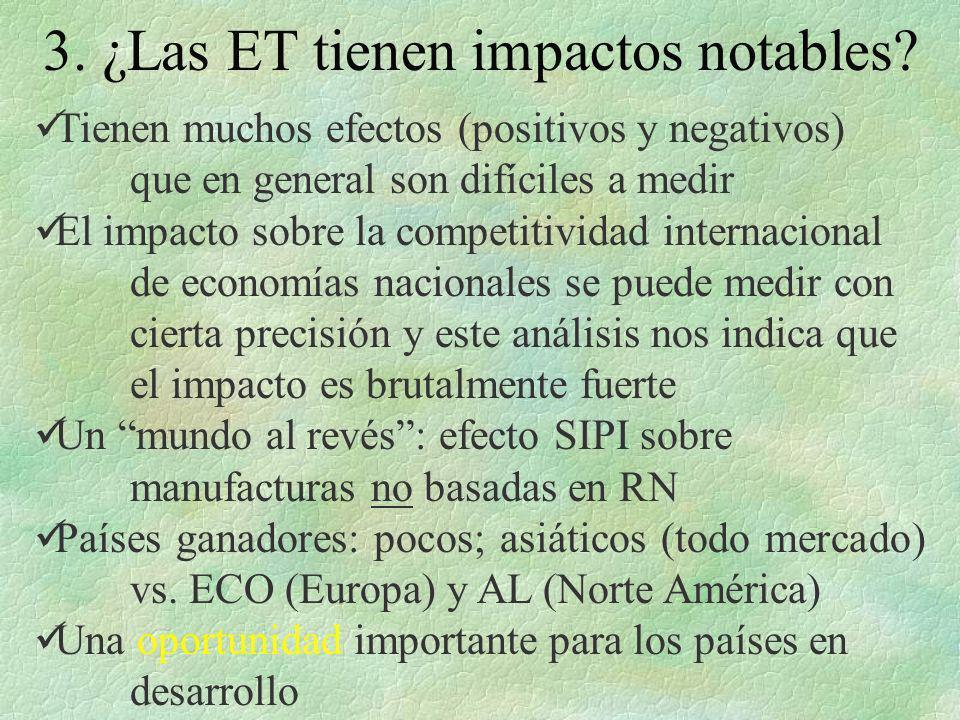 3. ¿Las ET tienen impactos notables