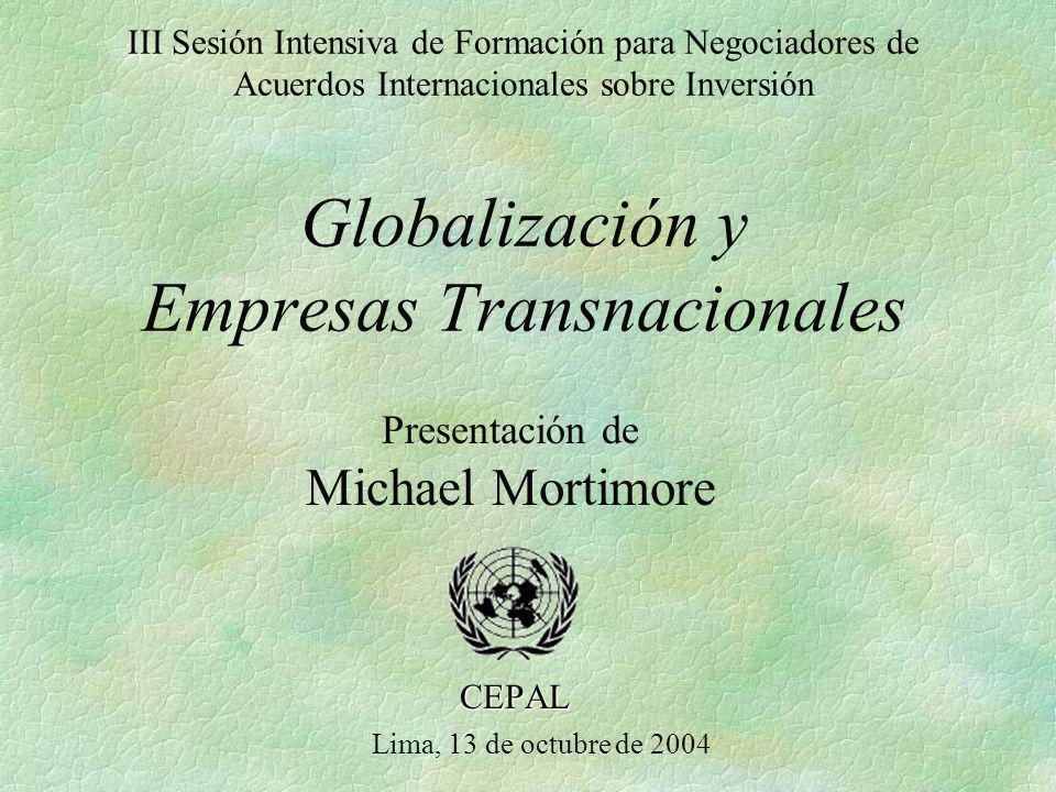Michael Mortimore Presentación de