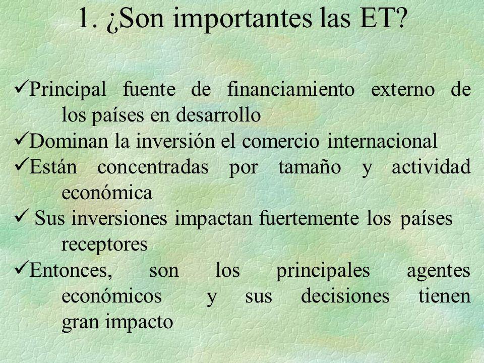 1. ¿Son importantes las ET