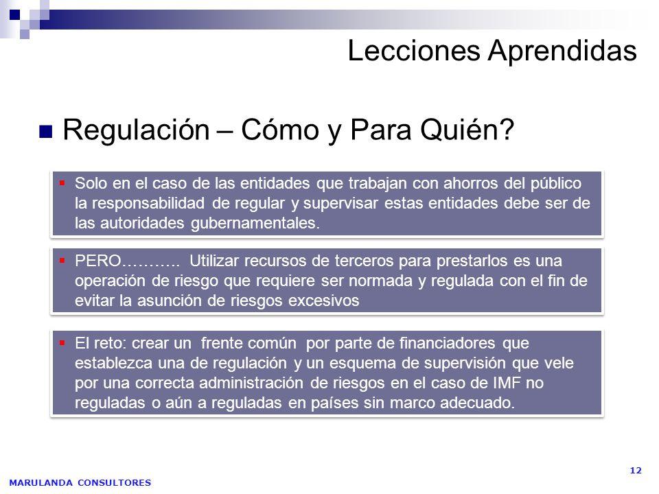 Regulación – Cómo y Para Quién