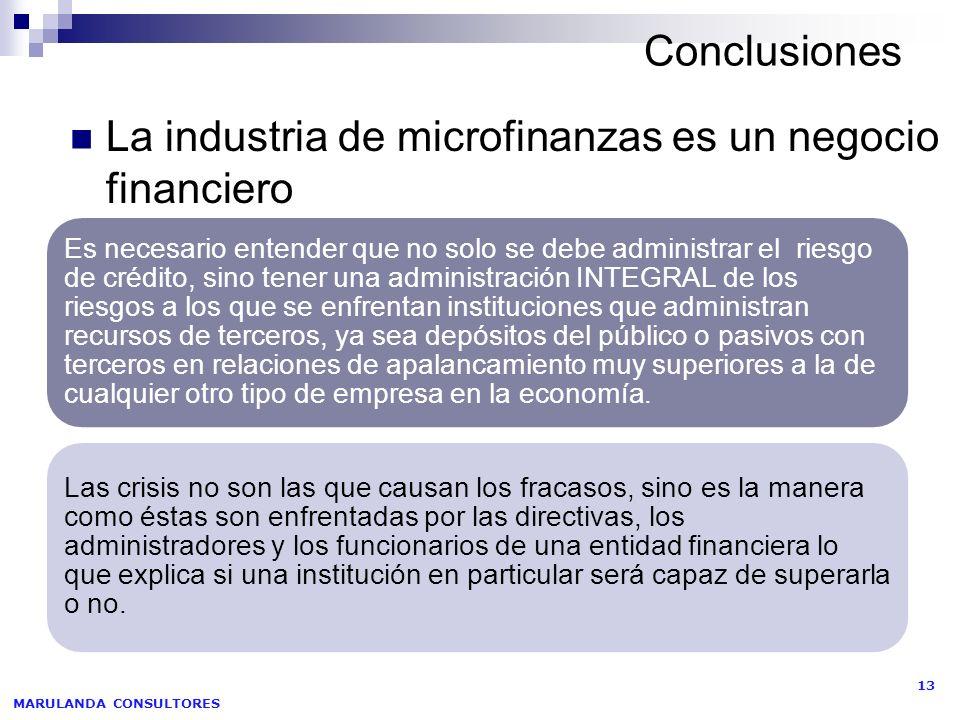 La industria de microfinanzas es un negocio financiero