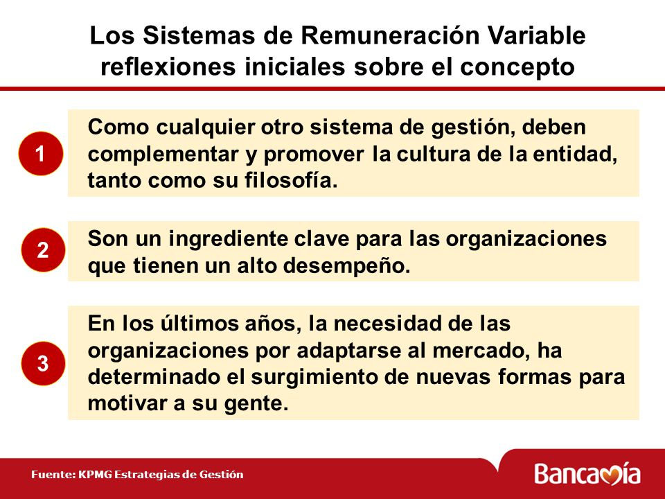 Los Sistemas de Remuneración Variable