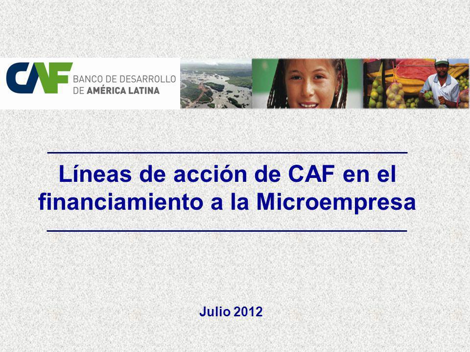 Líneas de acción de CAF en el financiamiento a la Microempresa