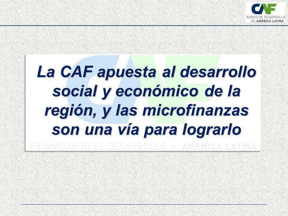 La CAF apuesta al desarrollo social y económico de la región, y las microfinanzas son una vía para lograrlo