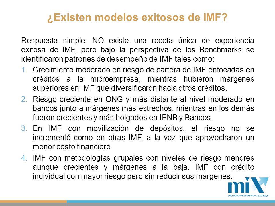 ¿Existen modelos exitosos de IMF