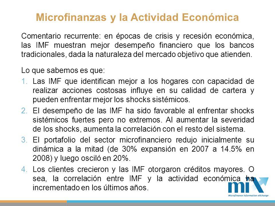 Microfinanzas y la Actividad Económica