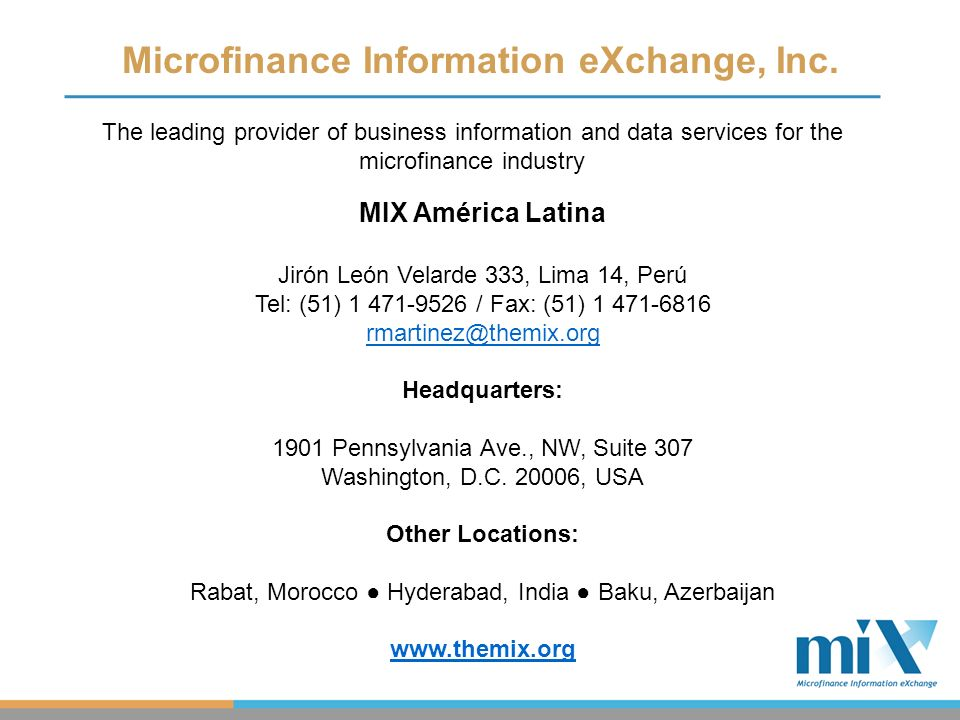 Microfinance Information eXchange, Inc.
