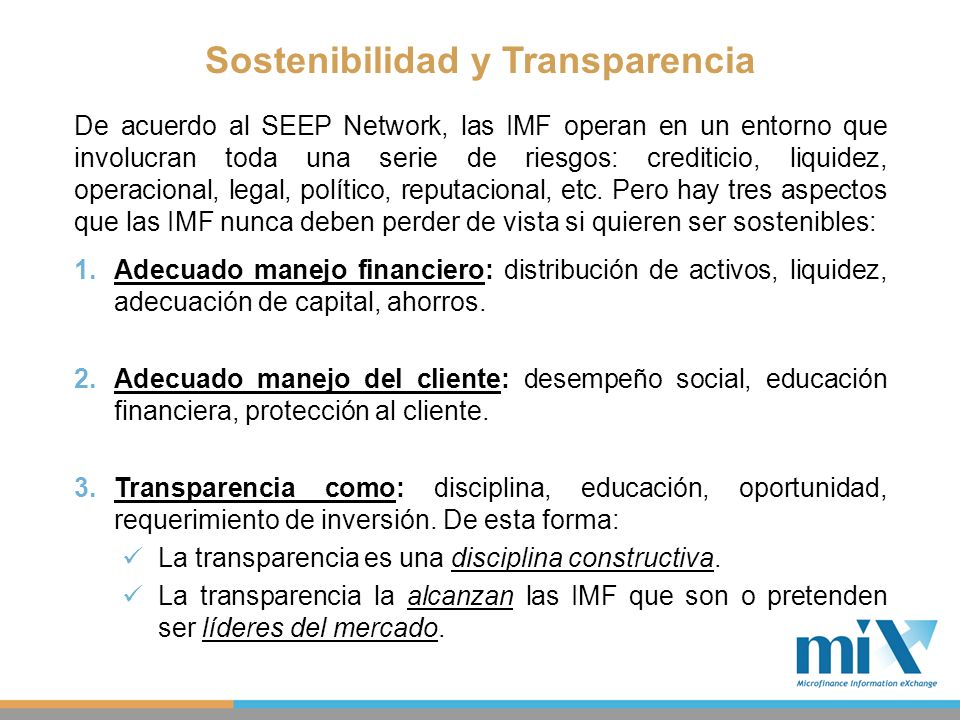 Sostenibilidad y Transparencia