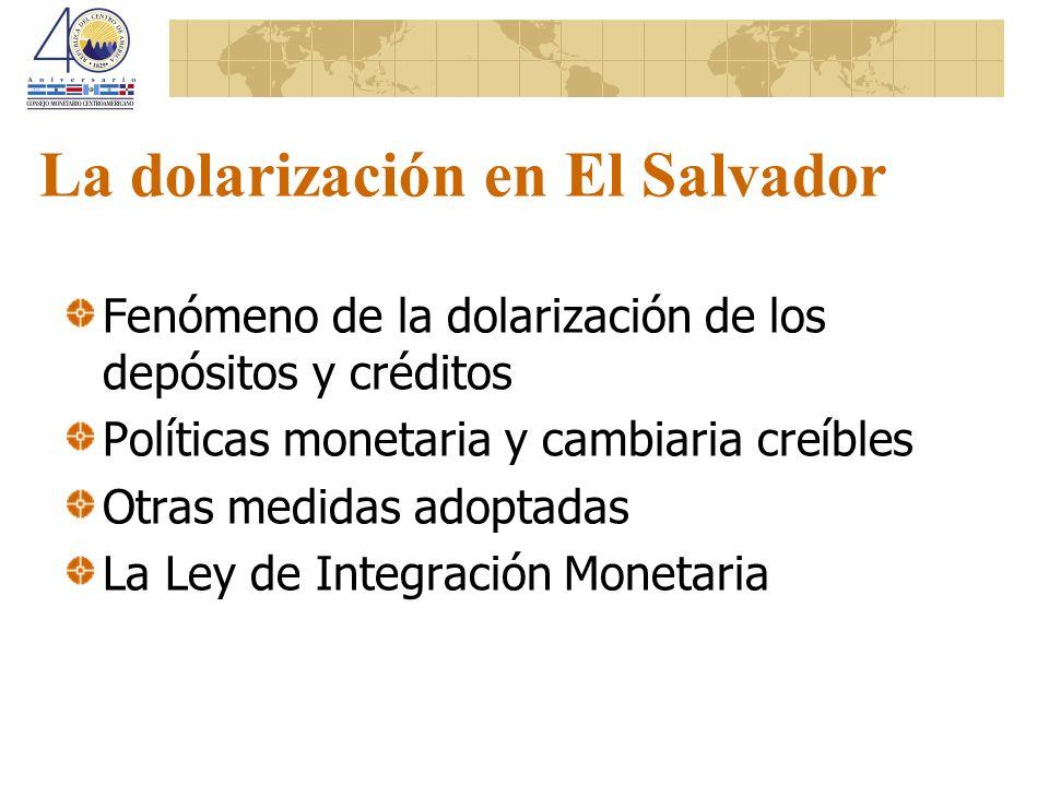 La dolarización en El Salvador