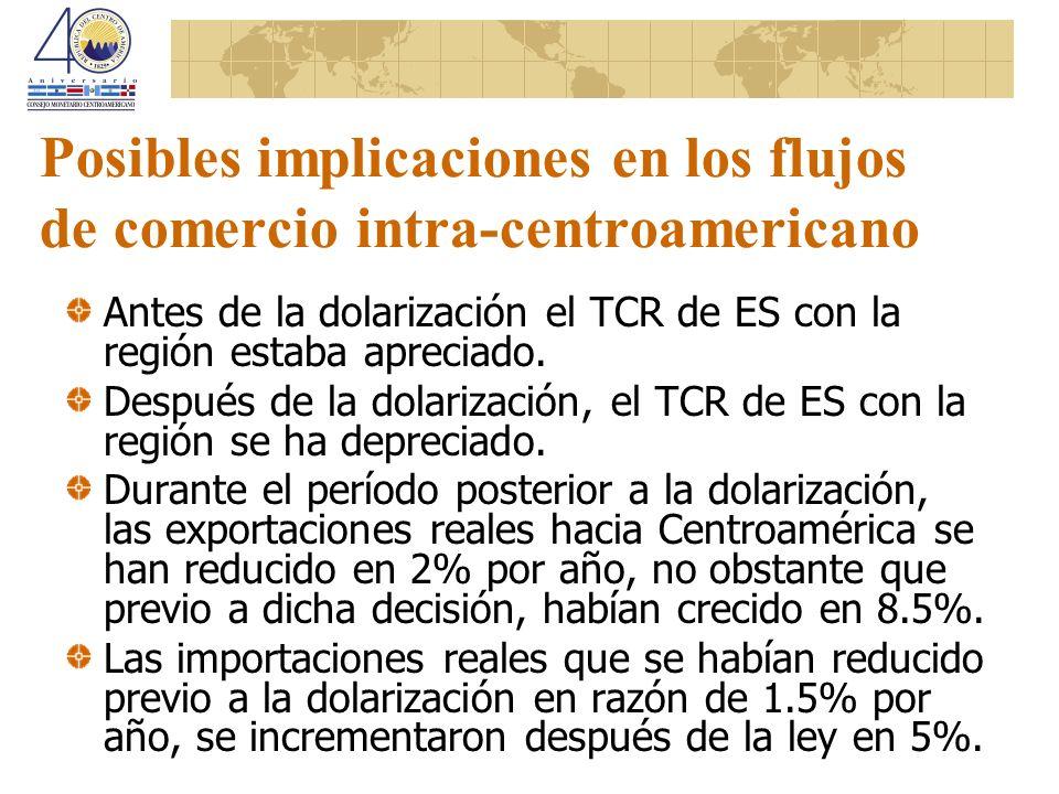 Posibles implicaciones en los flujos de comercio intra-centroamericano