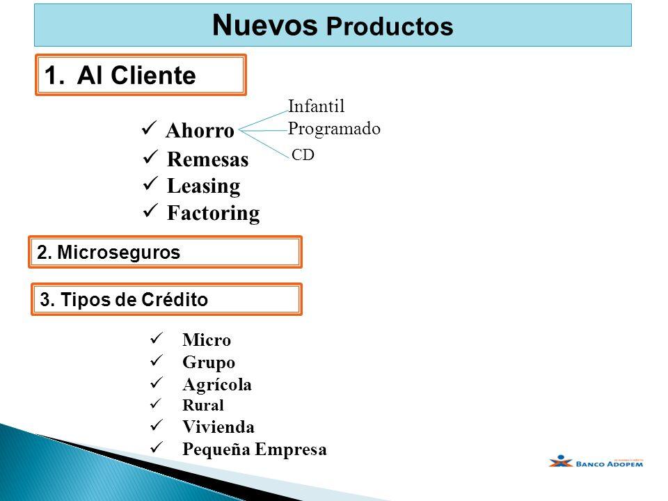 Nuevos Productos Al Cliente Ahorro Remesas Leasing Factoring Infantil