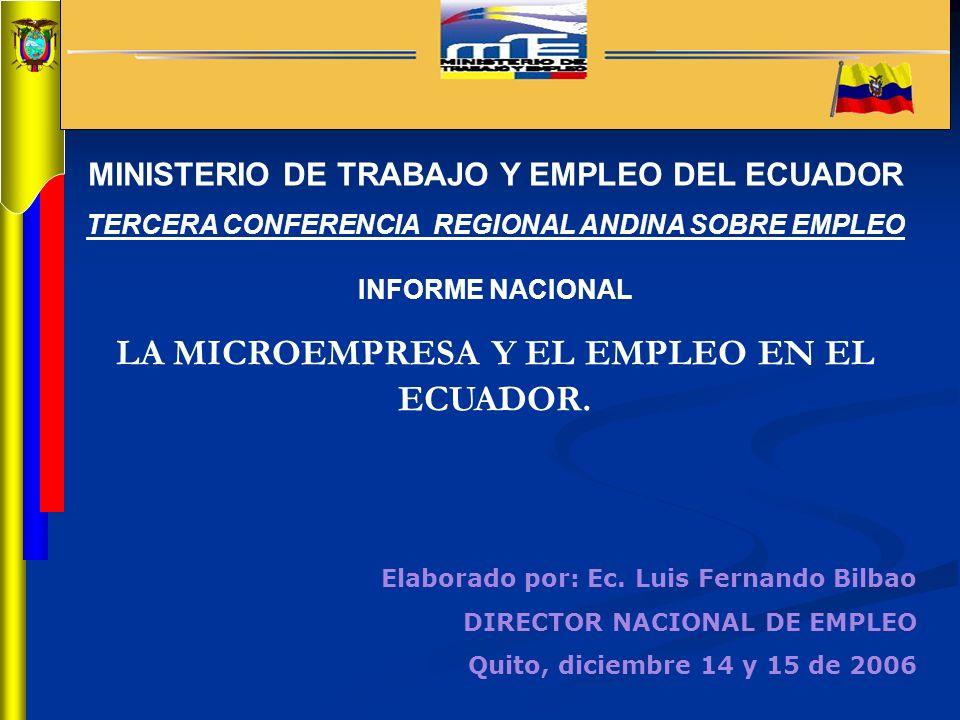 LA MICROEMPRESA Y EL EMPLEO EN EL ECUADOR.