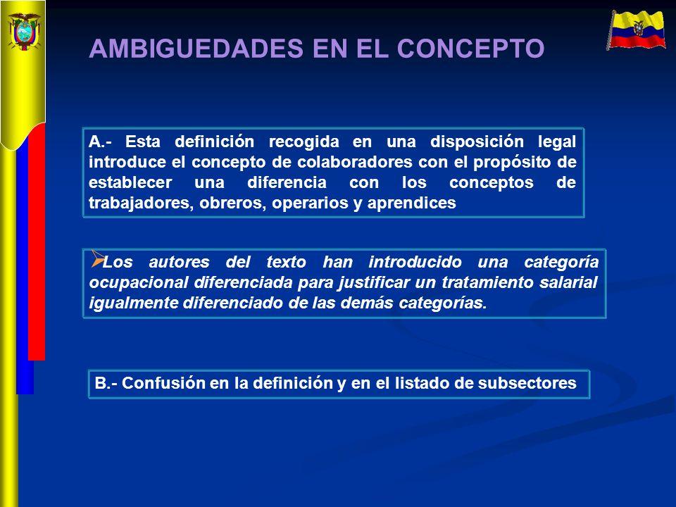 AMBIGUEDADES EN EL CONCEPTO