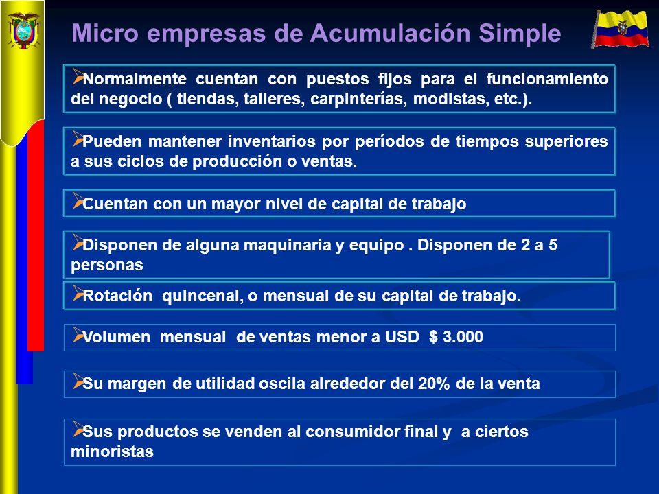 Micro empresas de Acumulación Simple