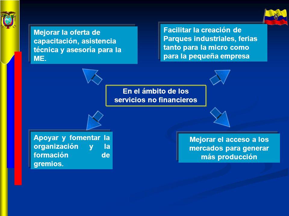 En el ámbito de los servicios no financieros
