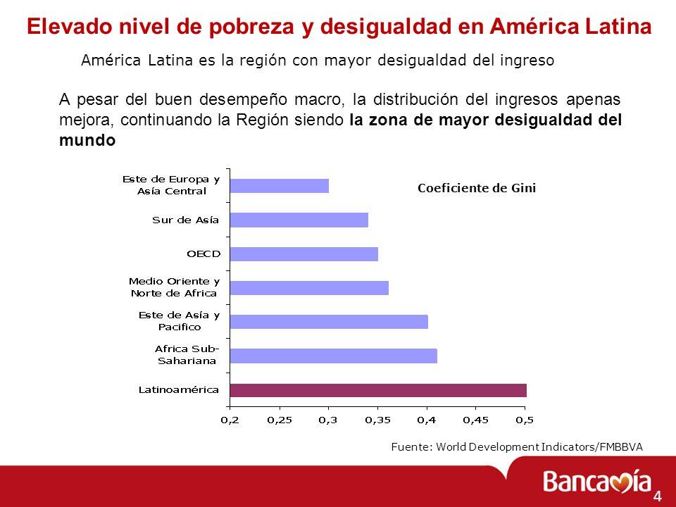 Elevado nivel de pobreza y desigualdad en América Latina