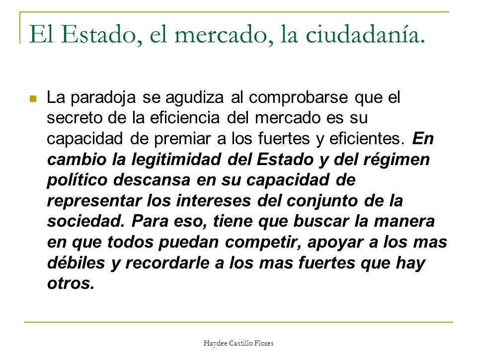 El Estado, el mercado, la ciudadanía.