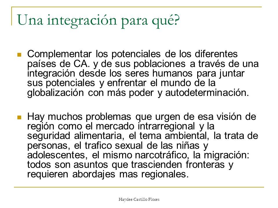 Una integración para qué