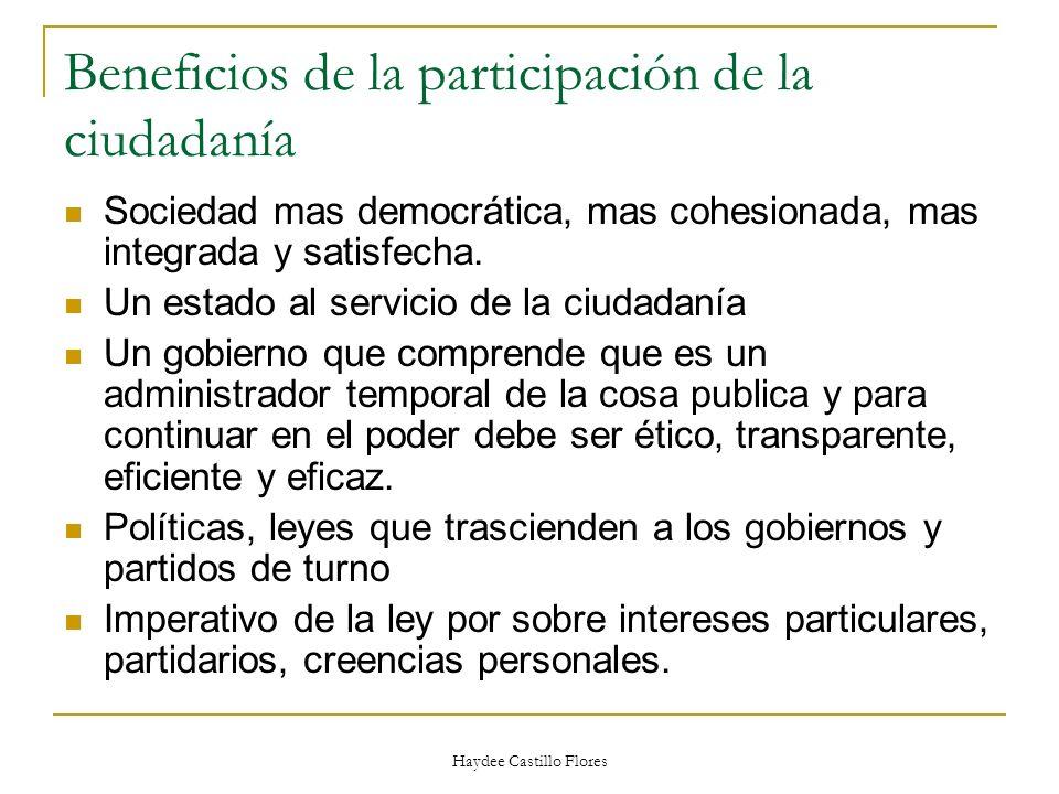 Beneficios de la participación de la ciudadanía