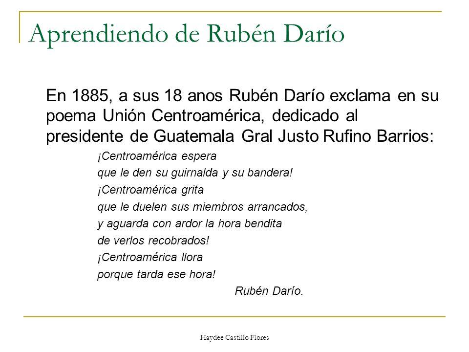 Aprendiendo de Rubén Darío