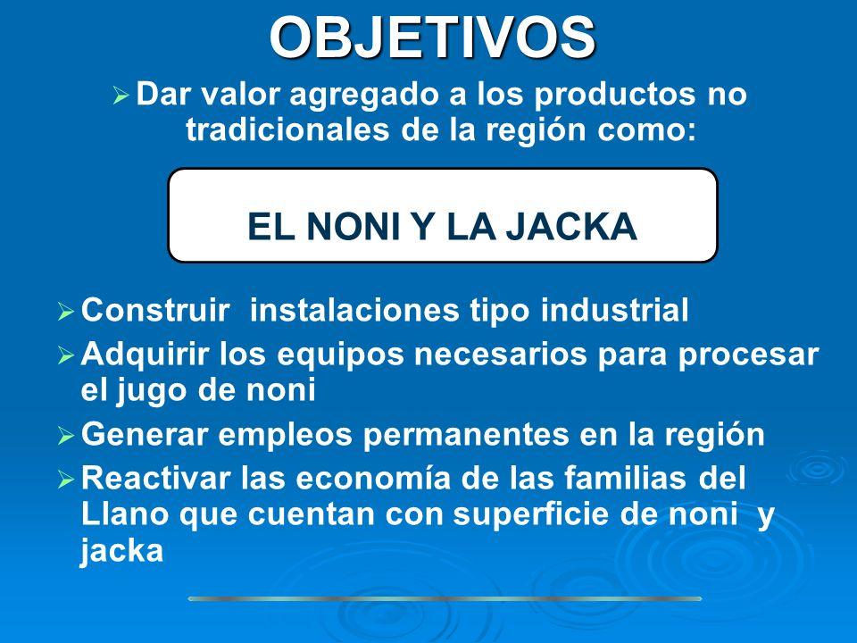 Dar valor agregado a los productos no tradicionales de la región como: