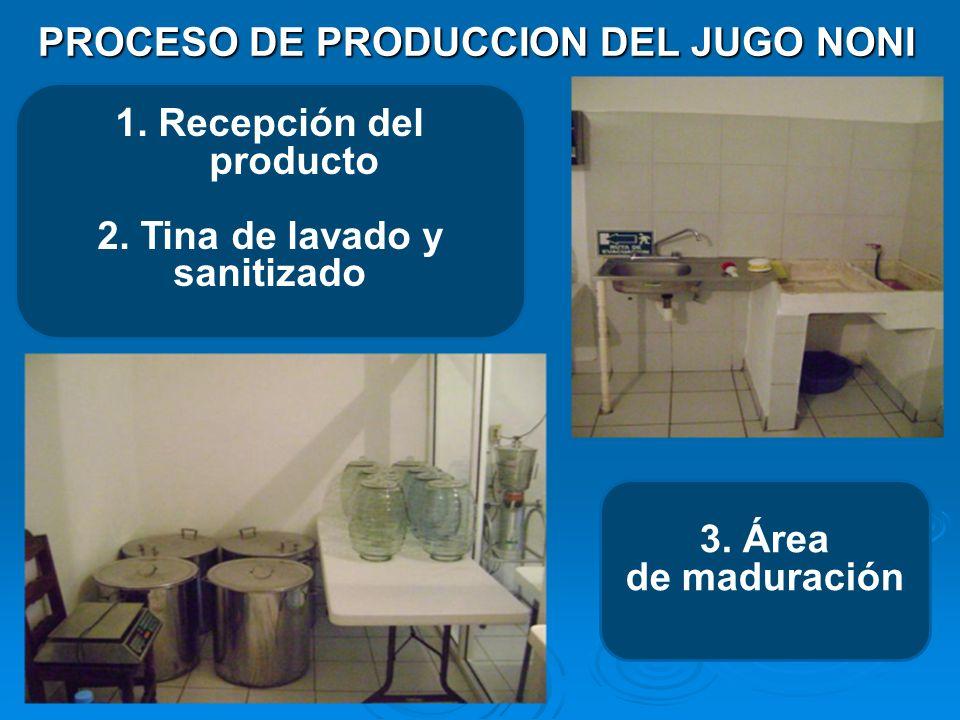 PROCESO DE PRODUCCION DEL JUGO NONI