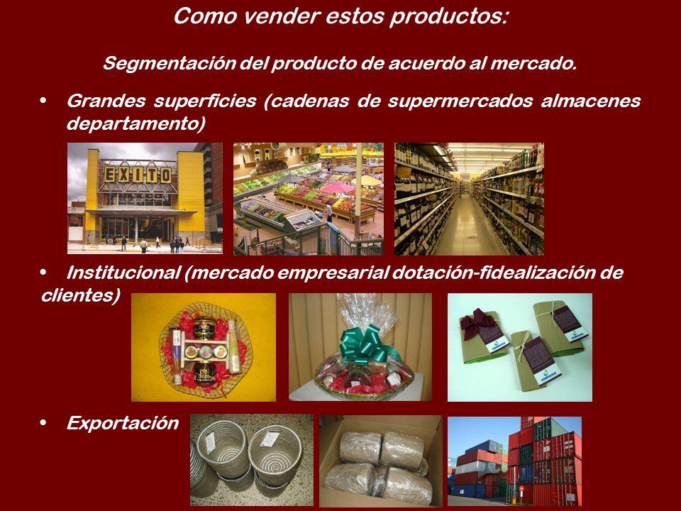 Como vender estos productos: