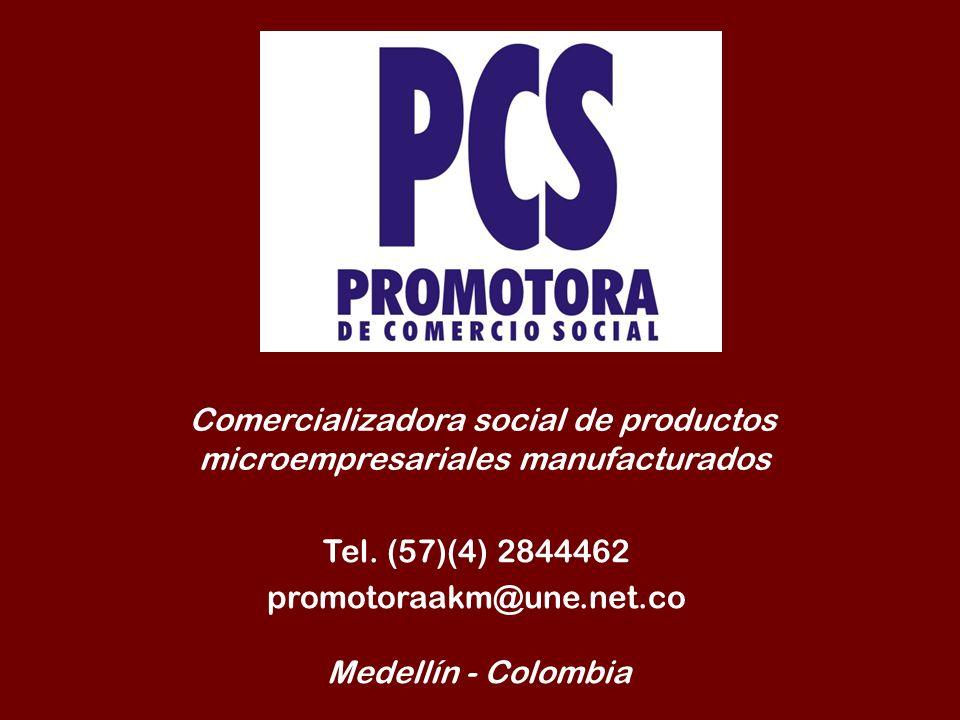 Comercializadora social de productos microempresariales manufacturados