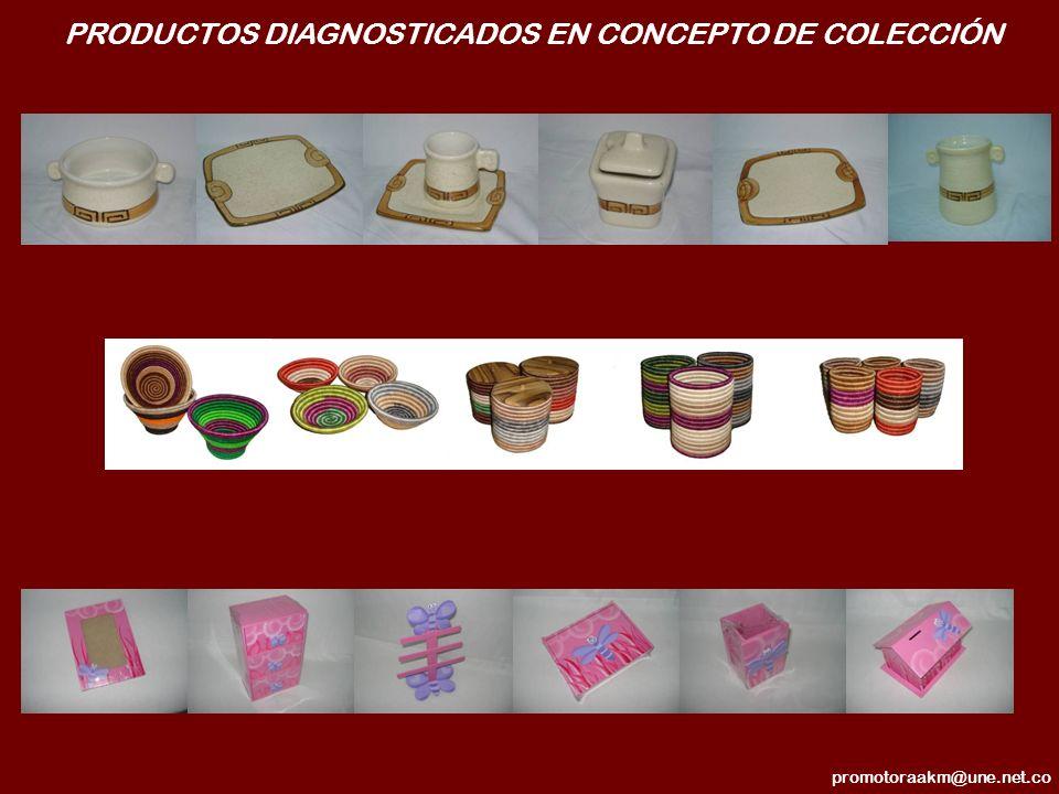 PRODUCTOS DIAGNOSTICADOS EN CONCEPTO DE COLECCIÓN