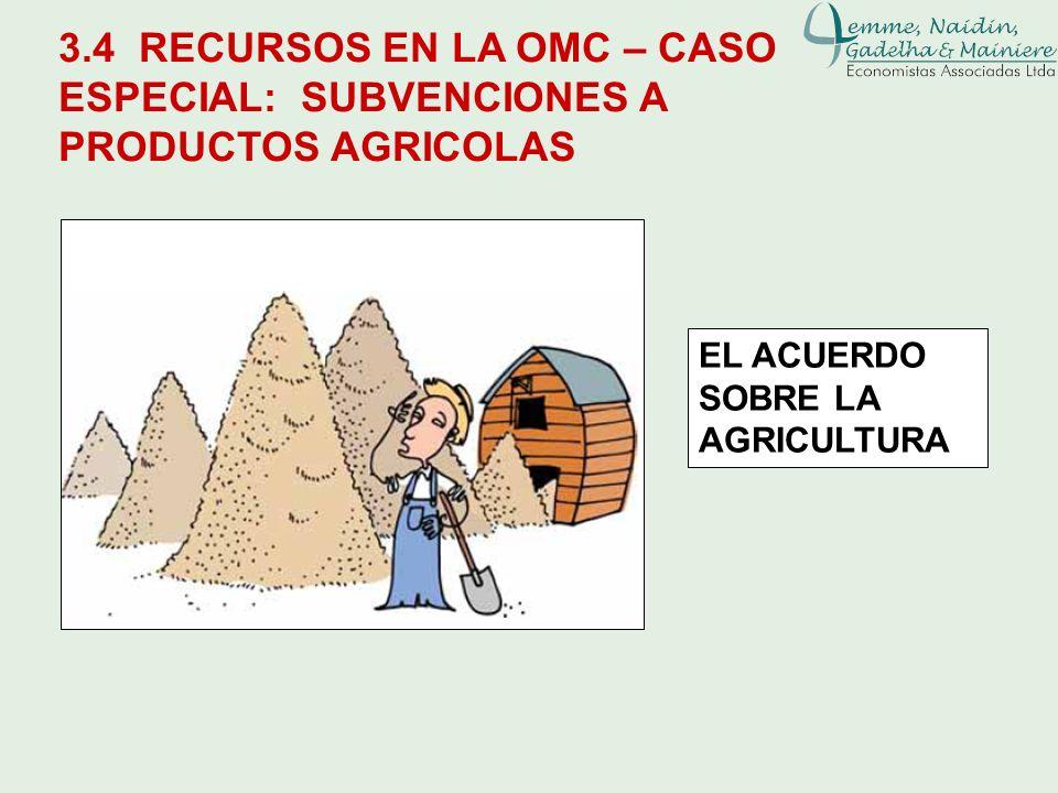 Leane Naidin3.4 RECURSOS EN LA OMC – CASO ESPECIAL: SUBVENCIONES A PRODUCTOS AGRICOLAS.