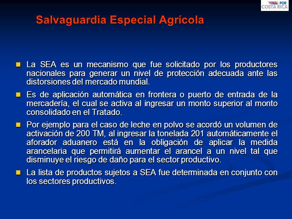 Salvaguardia Especial Agrícola